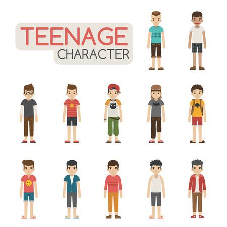 만화 청소년 캐릭터의 설정, EPS10 벡터 형식