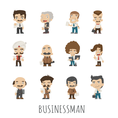 happy customer: Set of businessman , eps10 vector format Illustration
