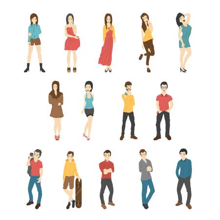 teamwork cartoon: Businessman and woman , eps10 vector format