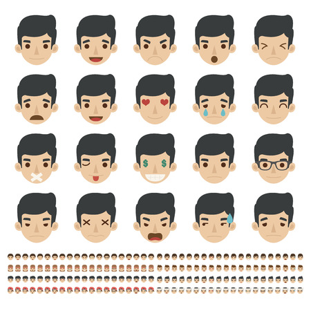 emoticons: Set of emoticons, faces icons , eps10 vector format