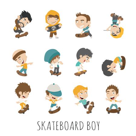skateboard boy: Skateboard Boy  , eps10 vector format
