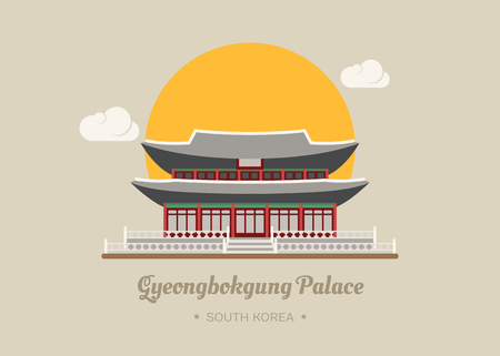Gyeongbokgung Palace , south korea , eps10 vector format