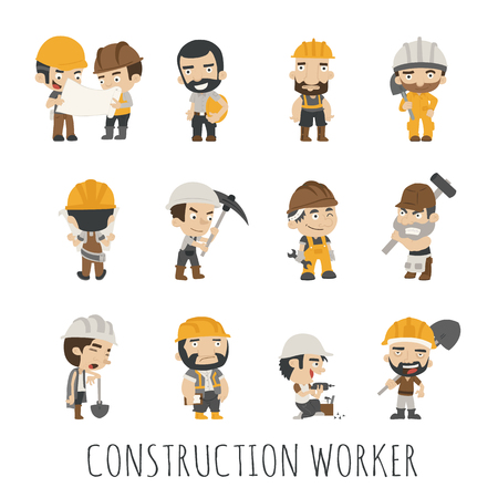 engineers: Industrial contractors workers people ,  eps10 vector format Illustration