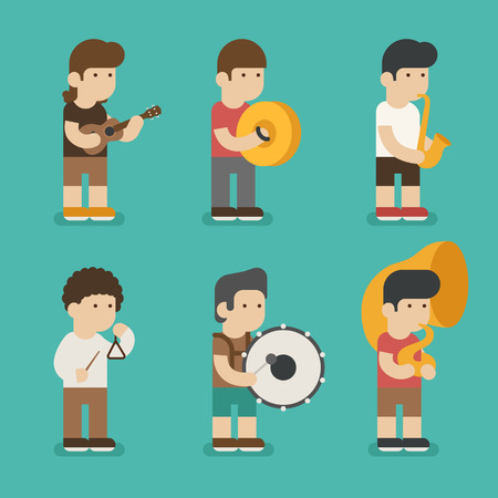 music player: Musician character ,  vector format Illustration