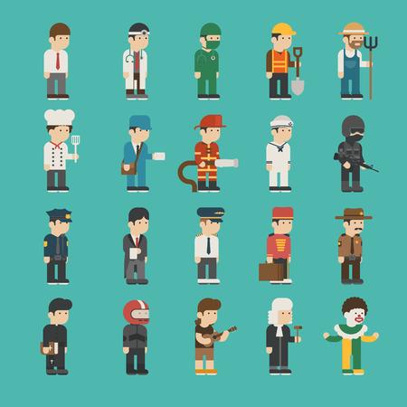 professions: Conjunto de caracteres profesión, formato vectorial Vectores