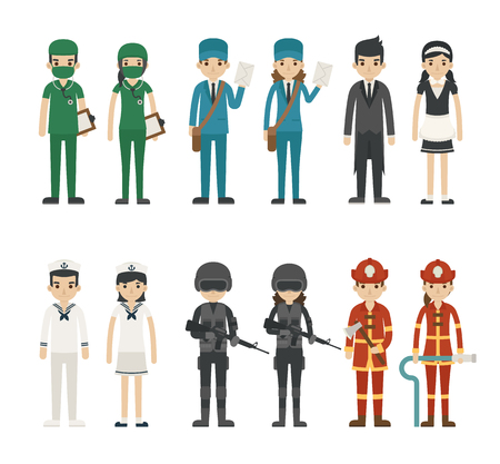 doctor: Set of profession characters  vector format