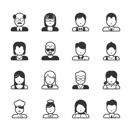 financial adviser: User Icons and People Icons , eps10 vector format