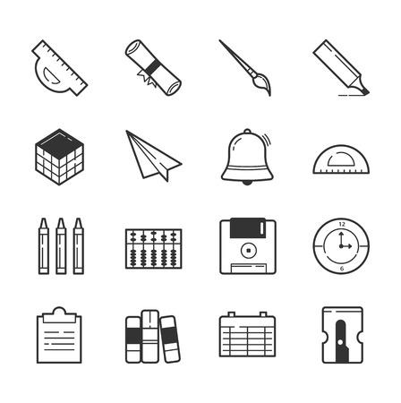 sacapuntas: Conjunto de iconos de la educación, en formato vectorial eps10