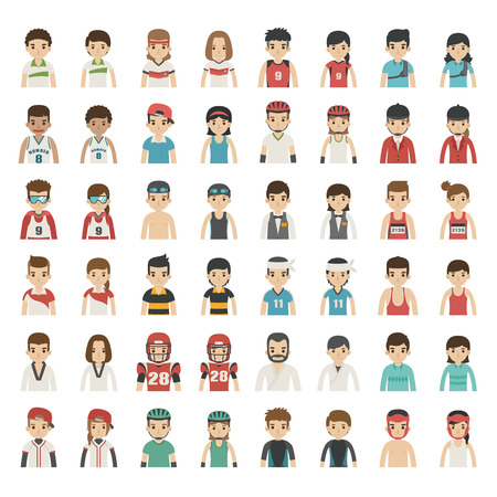 football: Set of sport characters , eps10 vector format
