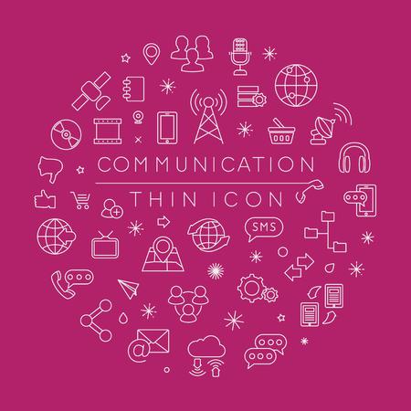 communication icons: Set of Communication icons , eps10 vector format