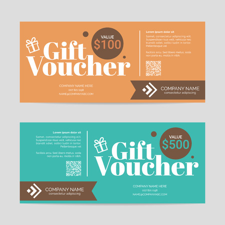 Gift voucher template , eps10 vector format 向量圖像