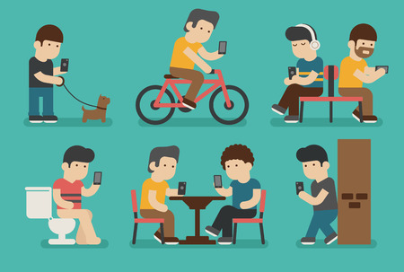 addiction: Internet and smartphone addiction , eps10 vector format