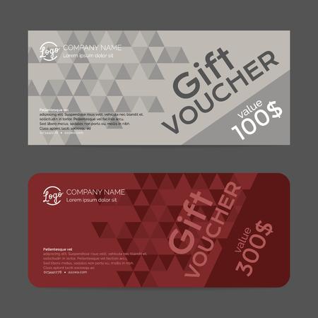 free gift: Gift voucher template , eps10 vector format Illustration