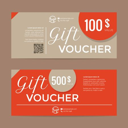 gift shop: Gift voucher template , eps10 vector format Illustration