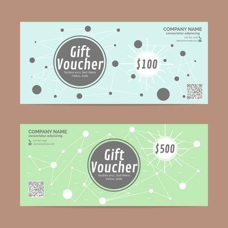 restaurant bill: Gift voucher template , eps10 vector format Illustration
