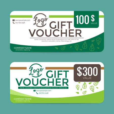 eps10: Gift voucher template , eps10 vector format Illustration