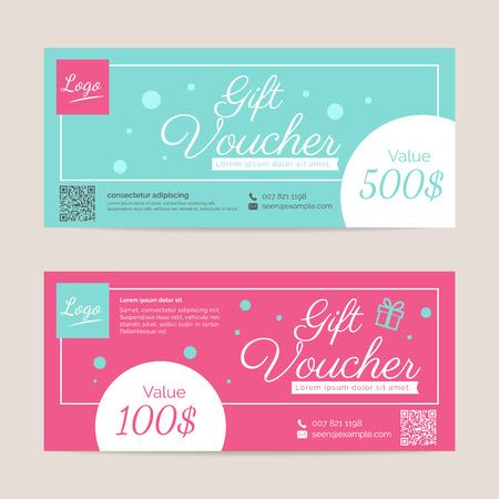 event: Gift voucher template , eps10 vector format Illustration