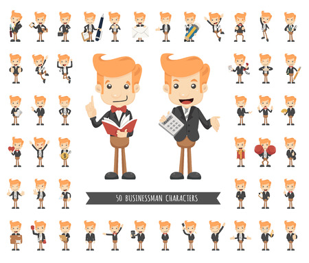 businessman suit: Set of businessman character , eps10 vector format Illustration