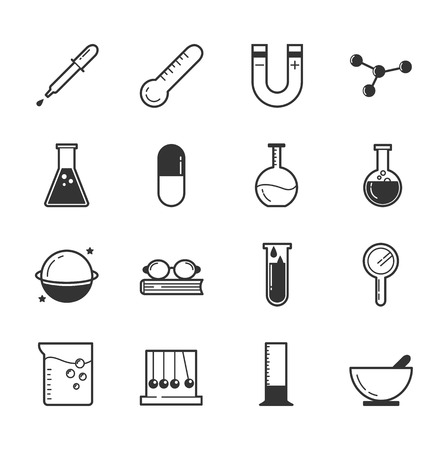 toxicology: Set of science icons , eps10 vector format Illustration