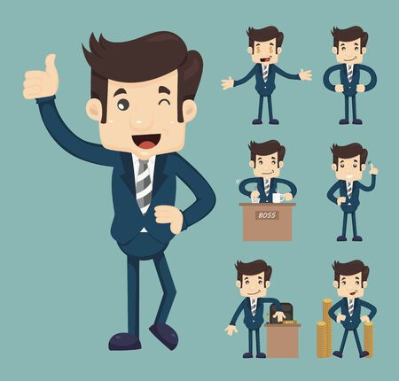 salaryman: Set of business people , eps10 vector format