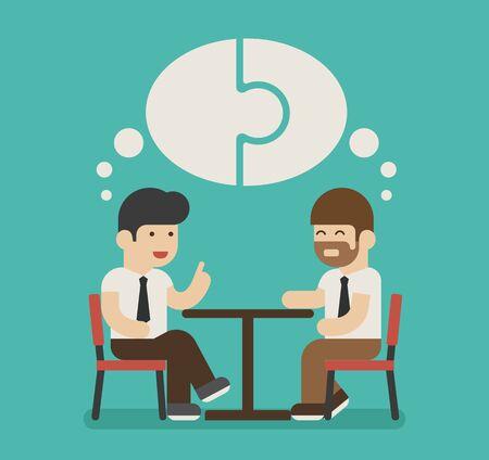 discuss: Businessman relationship , eps10 vector format Illustration