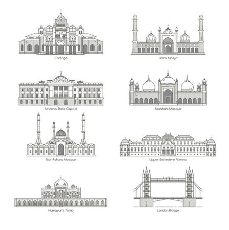landmark: World Landmark Icon Set