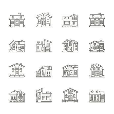 habitation: set of house icons , Real estate icons