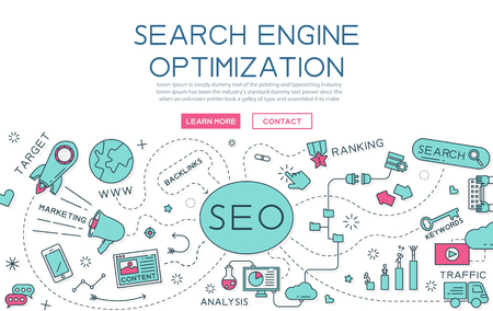 webmaster: Search engine optimization for website banner and landing page