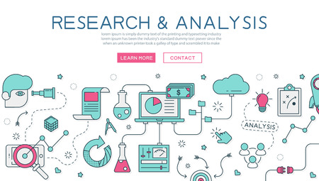 optimization: Research and analysis for website banner and landing page Illustration