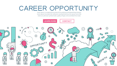 creative ideas: Career opportunity for website banner and landing page