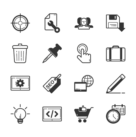 seo: Set of SEO and internet icons