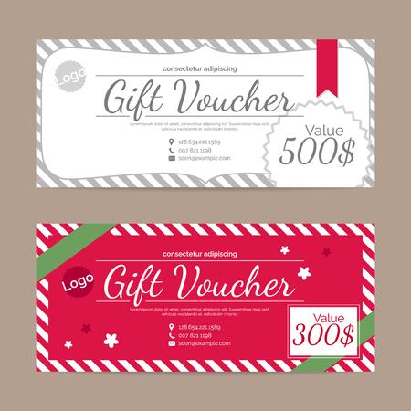 restaurant bill: Gift voucher template