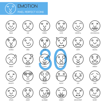 alarmed: Emotion , thin line icons set , Pixel Perfect Icons