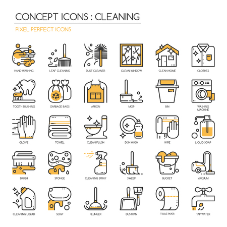 towel: Cleaning , Thin Line and Pixel Perfect Icons Illustration
