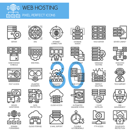 raid: Web hosting , Thin Line and Pixel Perfect Icons