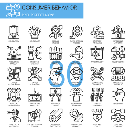 behavior: Consumer behavior , Thin Line and Pixel Perfect Icons