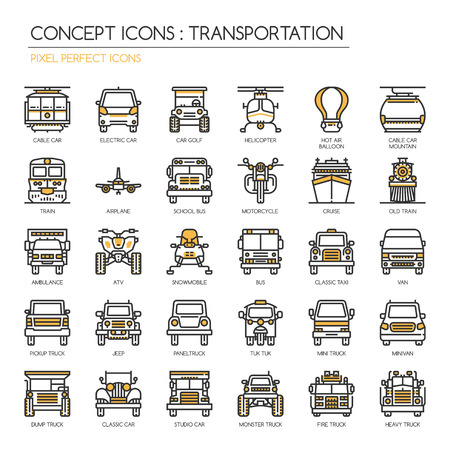snowmobile: Transportation , Thin Line and Pixel Perfect Icons Illustration