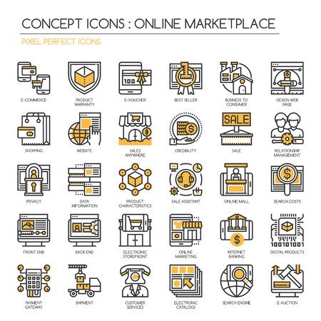 Der Online Marktplatz, Thin Line und Pixel Perfect Icons