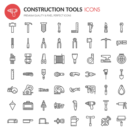 reamer: Construction tools , Thin Line and Pixel Perfect Icons