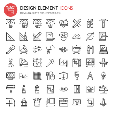 aperture grid: Design Element Icons , Thin Line and Pixel Perfect Icons