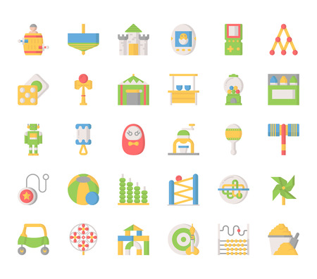hammer throw: Toy Elements , Thin Line and Pixel Perfect Icons Illustration