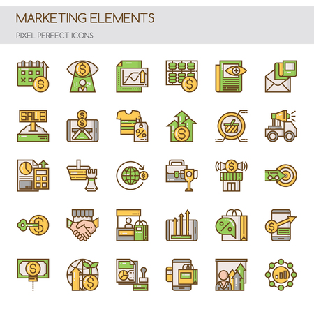 search searching: Marketing Elements  , Thin Line and Pixel Perfect Icons