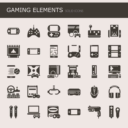 action sports: Gaming Elements, Thin Line and Pixel Perfect Icons.