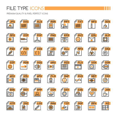 raw: File Type Icons , Thin Line and Pixel Perfect Icons