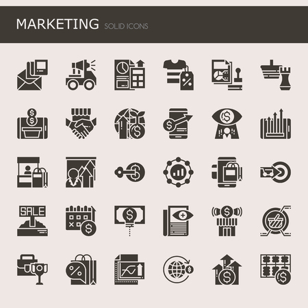 e commerce icon: Marketing Elements  , Thin Line and Pixel Perfect Icons