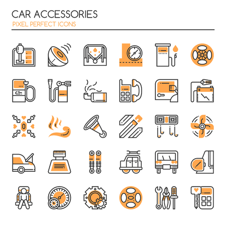 spare: Car Accessories Elements , Thin Line and Pixel Perfect Icons