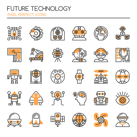 android tablet: Future Technology , Thin Line and Pixel Perfect Icons