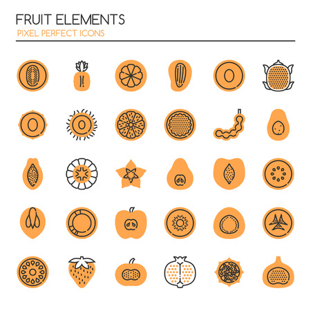 star: Fruit , Thin Line and Pixel Perfect Icons