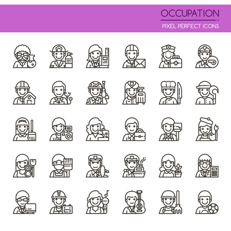 business people: Occupation Elements , Thin Line and Pixel Perfect Icons