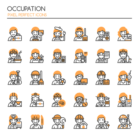 fireman: Occupation Elements , Thin Line and Pixel Perfect Icons